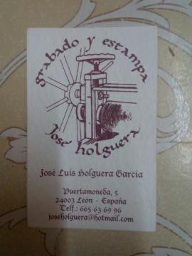 Grabado y estampa José Holguera